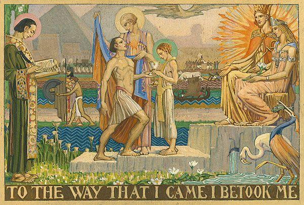 Christian WALLER, Study for 'The Robe of Glory' [Mural design for Fawkner Crematorium, Melbourne]