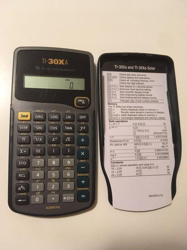 Texas Instruments Ti 30xa Solar Scientific Calculator Ten Digit Display Calculates Fract Scientific Calculators Graphing Calculator Trigonometric Functions