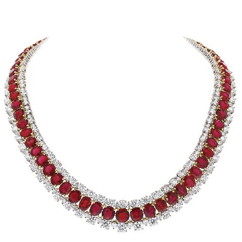 """The Cleopatra"" ruby and diamond necklace by Black, Starr & Frost"