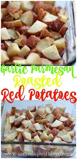 Garlic Parmesan Roasted Red Potatoes recipe from Served Up With Love. Packed with flavor, its the perfect side dish. www.servedupwithlove.com