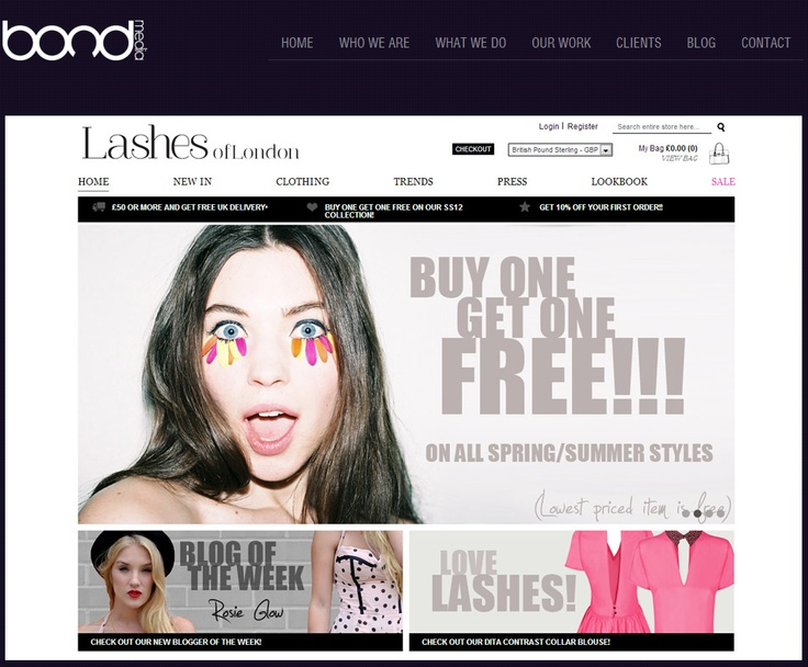 LASHES OF LONDON ~ They had never operated an online shop, so the whole process was new to them and they were very cautious before committing to a web design company. They needed clarity on how the site would work, how they would manage it, what it would do and how they would control it.