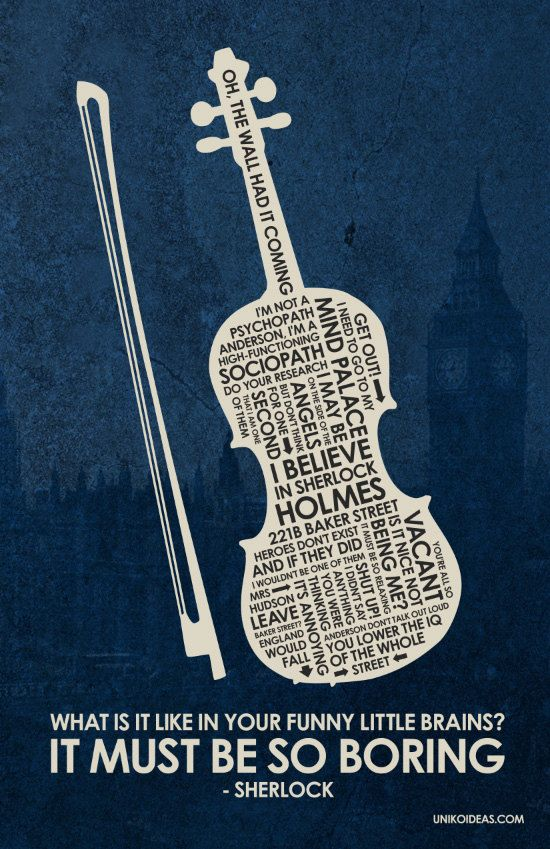 BBC Sherlock Inspired Quote Poster - 11 x 17 via Etsy