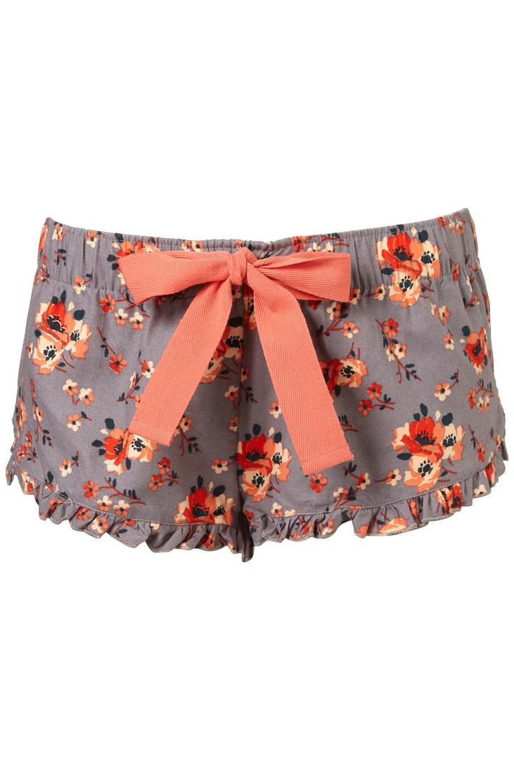So cute! - Floral Meadow PJ Shorts by #Topshop