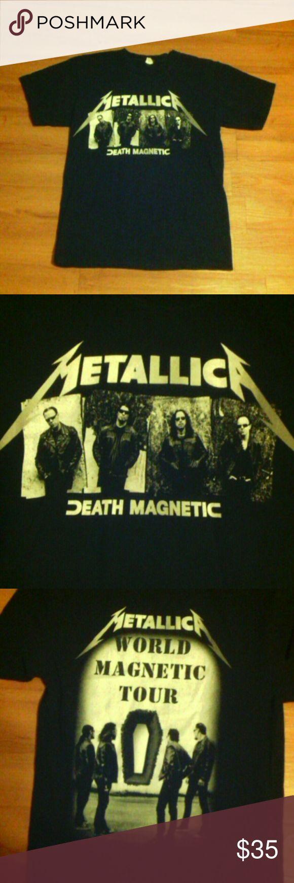 Vintage Metallica Death Magnetic Tour T shirt Sz m, 100% pre-shrunk cotton, World Magnetic Tour Metallica Tops Tees - Short Sleeve