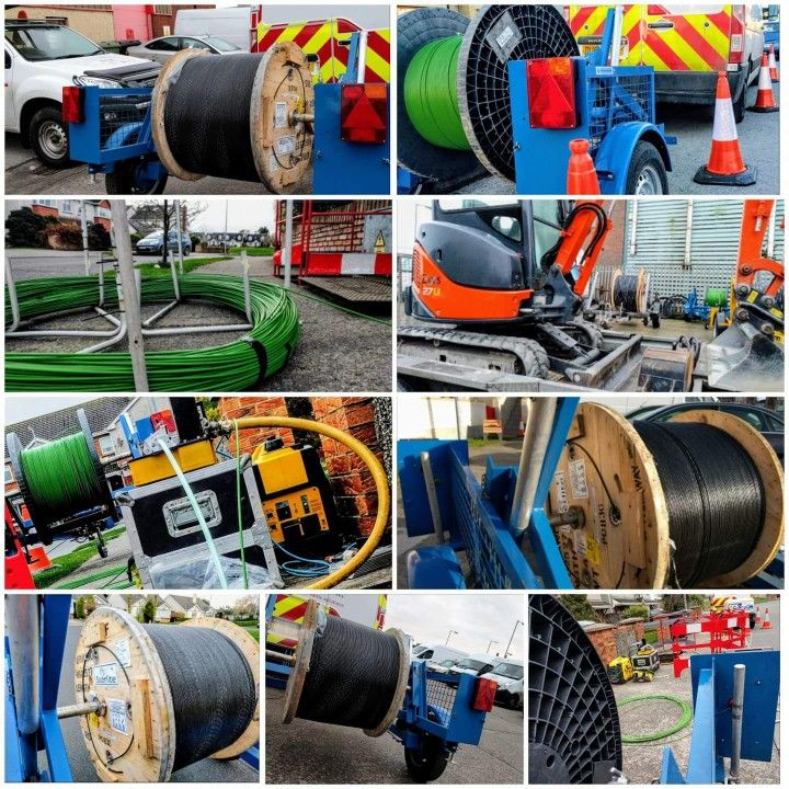 Underground telecom fiber conduit trenching/placing including directional drilling activities, micro trenching activities, underground fiber placement/aerial fiber cable placement on existing telecom/power poles.