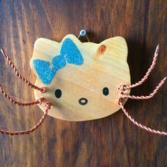Tête de chat porte bijoux, range clés ... paillettes bleues
