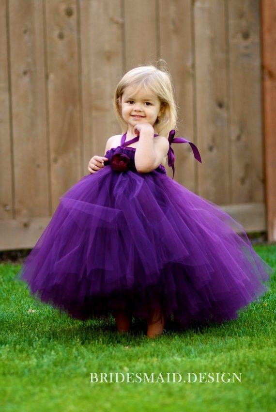 1591a0c9dd8 Fairy Purple Tulle Toddler Ball Gown Flower Girl Dress - Bridesmaid.Design