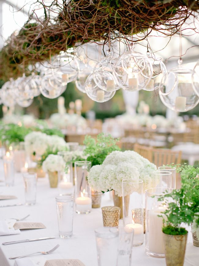 Hanging Globes With Votive Candles