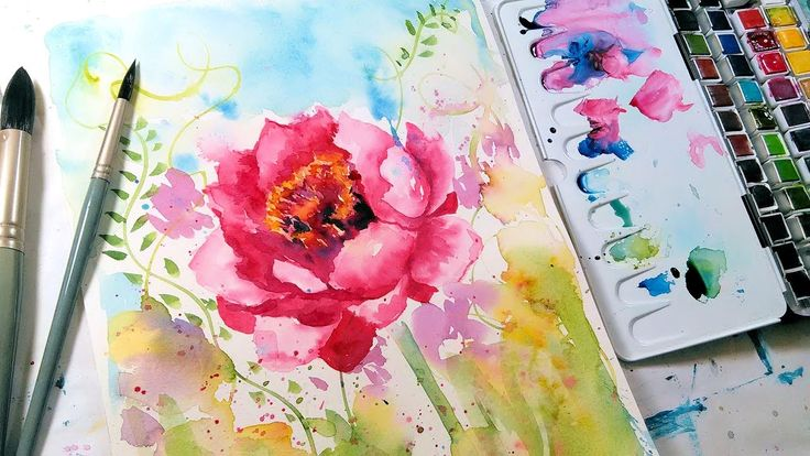 1000 ideas about easy watercolor paintings on pinterest for Easy watercolor tutorial