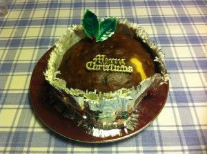 Christmas Pudding Steamed in a Cloth