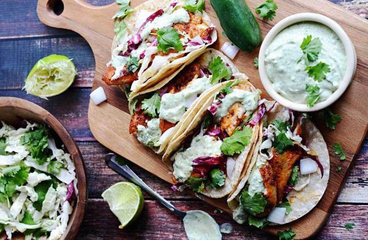 Verbaas je vrienden met deze heerlijke, gezonde en kleurrijke vis taco's!