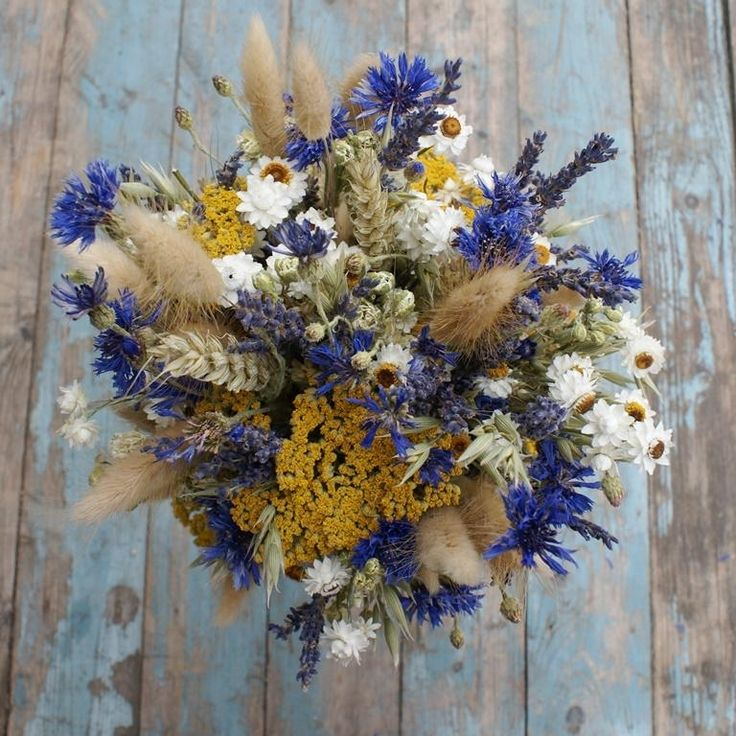 Cornflower Meadow Wedding Bouquet