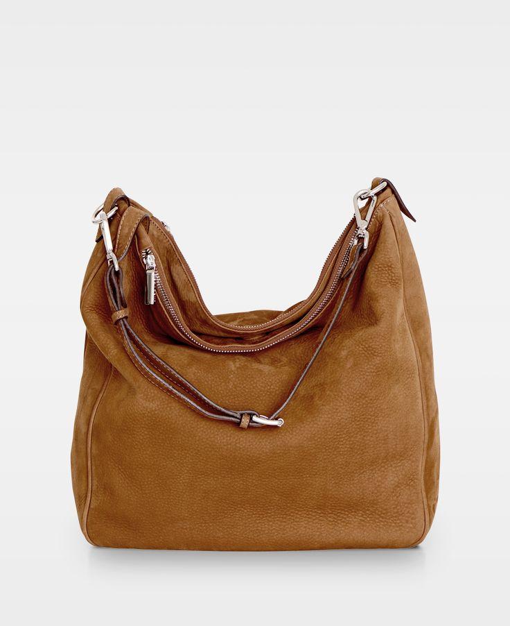DECADENT Soft Triple Bag Nubuck Cognac