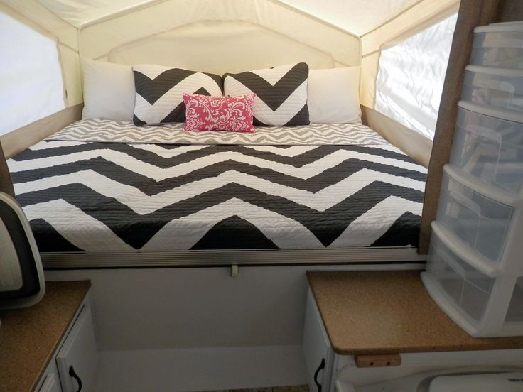 54 Best Ideas About Popup Decorating On Pinterest Camper Cushions Drop Cloth Curtains And Rv