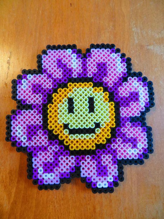 Smiley Face Flower Perler Beads Magnet