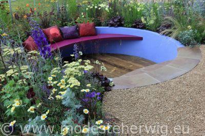 Tuinen Engeland  Strictly come gardening  Verdiept terras  Design: Raynershine  overig