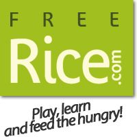 Play online, learn online and feed the hungry / Freerice.com  Spanish vocabulary practice (other languages and subjects available)