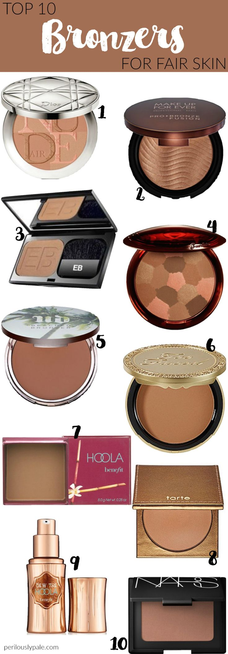 Top 10 Bronzers for Fair Skin