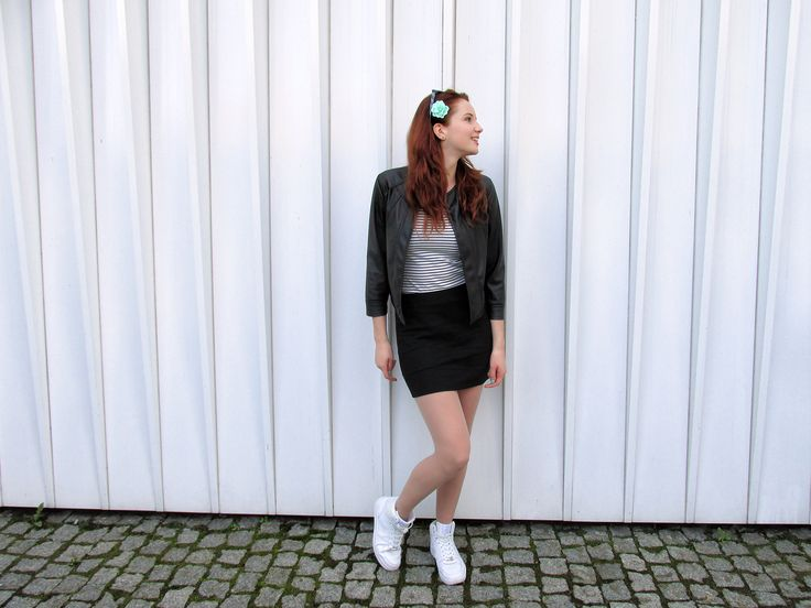 outfit, style, styl, moda, fashion, blogerka, blogger, ootd, ginger, redhead, redhair, ruda, longhair, flower, black, white, girl, polishgirl, smile, girly