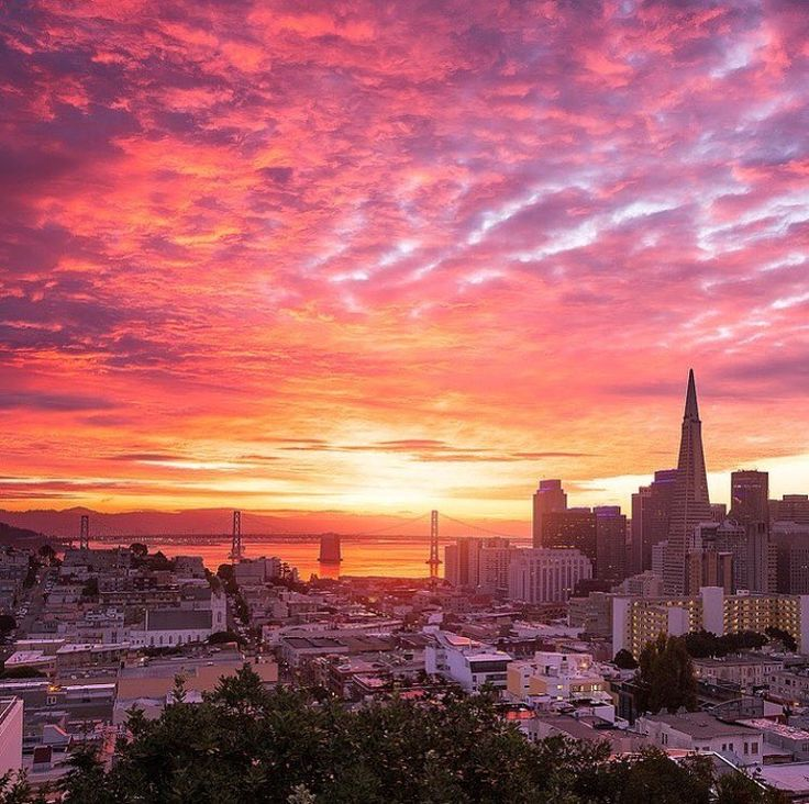 San Francisco at sunset by @jespr #sanfrancisco #sf