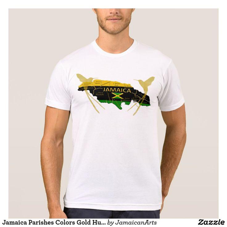 Jamaica Parishes Colors Gold Humming T-Shirt