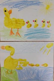 Cute duckling art- Make Way for Ducklings