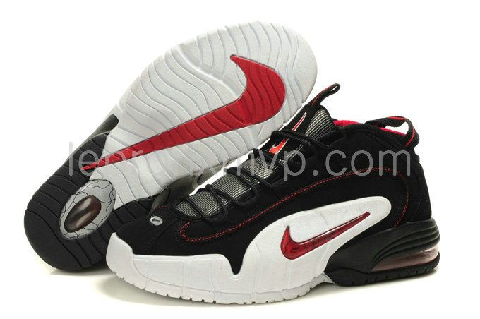 online retailer 2c557 0499a Penny 1 Chicago Red Black   Nike Penny in 2019   Penny hardaway, White  basketball shoes, Nike