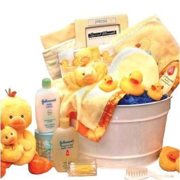 Valentines gift idea for newborns#New Baby Bath Time Basket - Rubber Duckies and More - Valentines, Easter or Shower Gift Idea for Newborns
