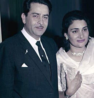 Raj Kapoor with Wife