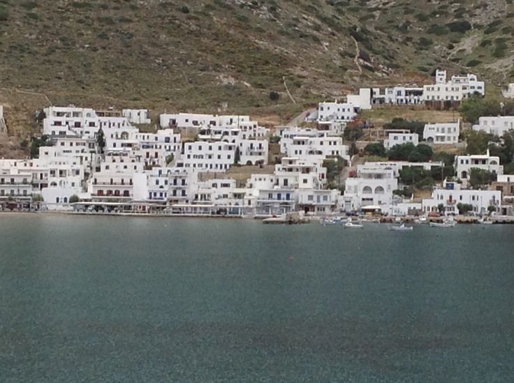 Looking across the bay from Agia Marina  at Kamares.
