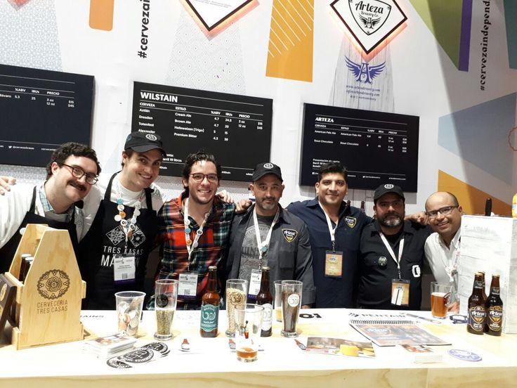 Arteza Brewery Co. en Expo Cerveza Mexico 2017 en WTC CdMx #cervezaartezanal #craftbeer #beerlover #beer #mexicanbeer #mexico