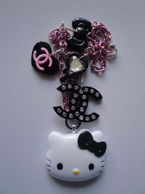 Hello Kitty Fashion Statement  Necklace by JemCandyJewerly on Etsy, $20.00