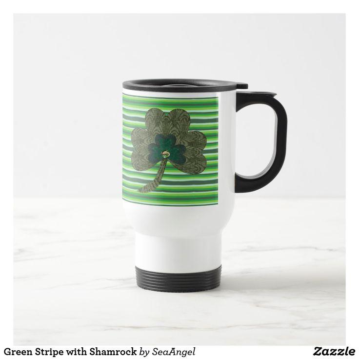 Green Stripe with Shamrock st patricks day crafts, st patricks day, st patricks day party, st patrick's day ideas, st. patrick's day activities, t shirts #saint #saintpatricksday #stpatricksday #design #trend #saintpatricksday2018 #patricks #greenday #stpatricksday2018 #style #StPatricksFest #SaintPatricksDay #saint #shamrock #StPatricksDayShirt #muglife #mugs #mug #pillows #pillows #coffee #flask #travelblog