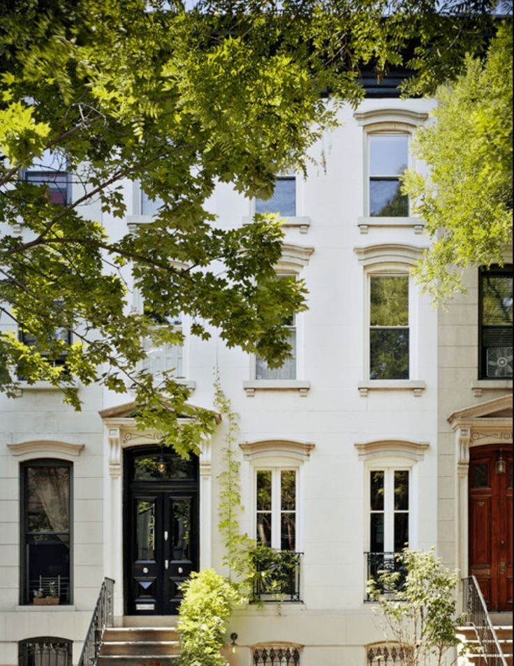 1000 images about row house style on pinterest for Brownstone home designs