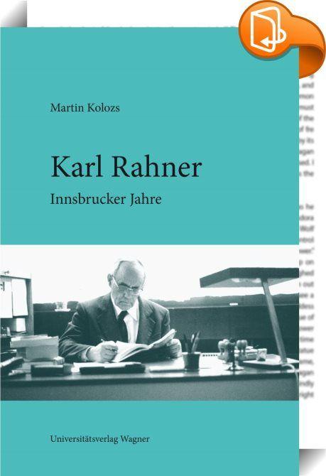 Karl Rahner    ::  SCHWERPUNKT-BIOGRAPHIE EINES DER EINFLUSSREICHSTEN KONZILSTHEOLOGEN DES 20. JAHRHUNDERTS  Karl Rahner war einer der wichtigsten Theologen des 20. Jahrhunderts. Sein Einfluss auf das Zweite Vatikanische Konzil, an dem er als Berater des Wiener Kardinals König teilnahm, ist bis heute unbestritten und weiterhin Thema einer breiten, internationalen Forschung.  In Innsbruck hat der Jesuitenpater Karl Rahner drei wichtige Phasen seines Lebens verbracht: • 1936-1939: Machtü...