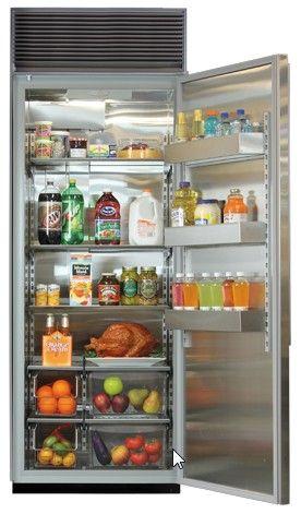 "M30ARWGPL Marvel 30"" All Refrigerator Column with White Interior - Left Hinge - Glass Door/Panel Ready Frame"