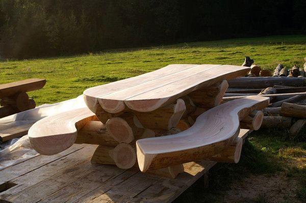 Les 93 meilleures images propos de table de jardin sur for Plan table de jardin en bois