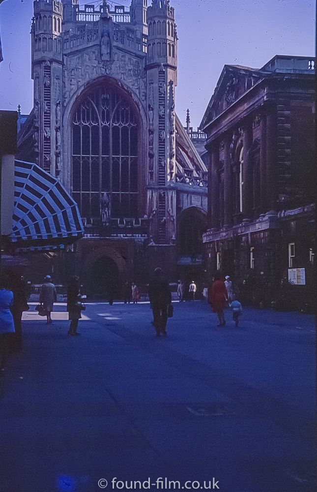 Bath Abbey in October 1972