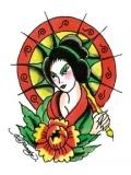 Ed Hardy Asian Girl Tattoo