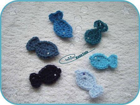 Petits poissons décoratifs au crochet + tuto