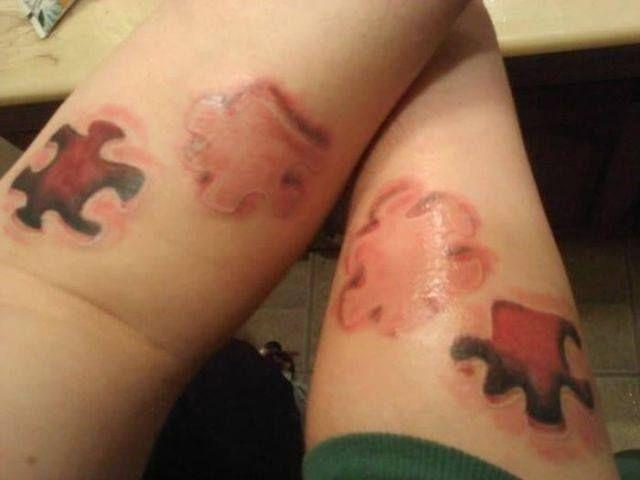 Eres la pieza que encaja en el rompecabezas de mi vida. Tatuajes para parejas.