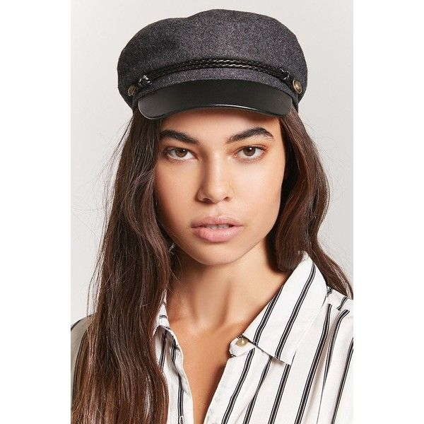 Forever21 Wool-Blend Cabby Hat ($15) ❤ liked on Polyvore featuring accessories, hats, woven hat, nautical hat, forever 21, brimmed hat and forever 21 hats