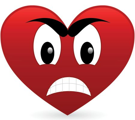 Angry heart emoticon This heart has had a bad day and is pretty angry about it.