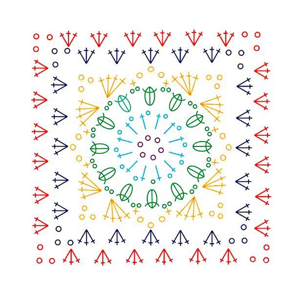 459 best Cuadrados y simbolos crochet images on Pinterest   Crochet ...
