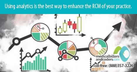 Tracking your results will help stay ahead. Analytics is the best way to enhance the RCM of your practice.