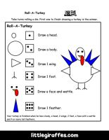 Roll A Turkey Printable Game