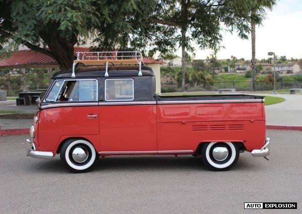 Used Cars In Raleigh Nc >> 1967 Volkswagen Busvanagon Crew Cab Pickup Brown Red 1967