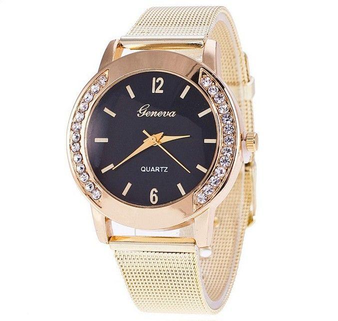 Zegarek Złoty Damski Bloger Cyrkonie