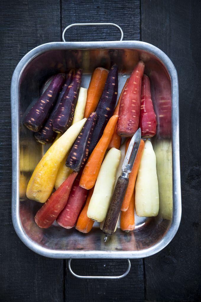 Colorful carrots. http://www.jotainmaukasta.fi/2016/01/02/ruokatrendit-2016/