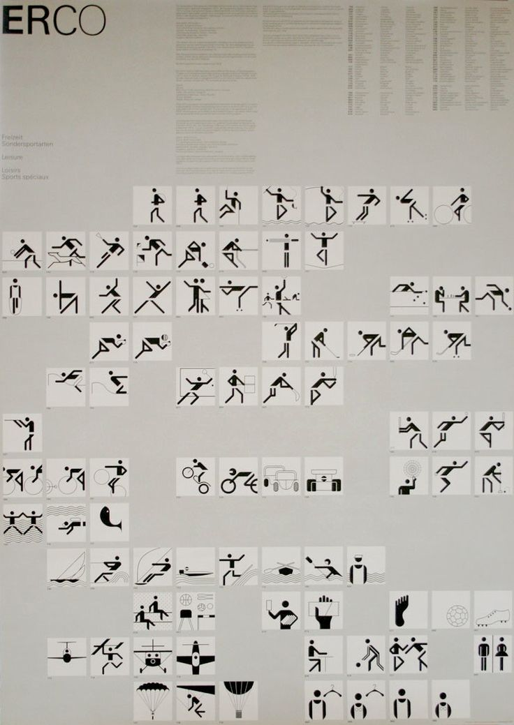 Munich 1972 Olympics Event Icons - Otl Aicher